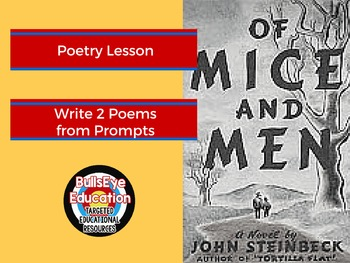 Of Mice and Men: Write 2 Poems