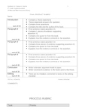 Of Mice and Men by John Steinbeck: Persuasive Essay Rubric
