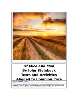 Of Mice and Men by John Steinbeck Tests and Activities