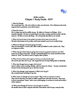 Of Mice and Men chapter 1 study guide