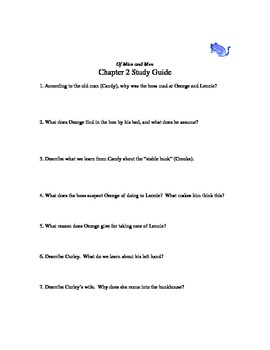 Of Mice and Men chapter 2 study guide