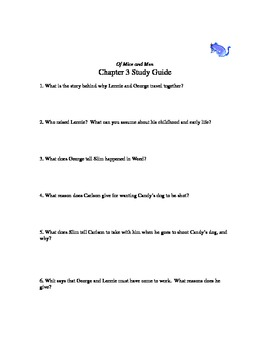 Of Mice and Men chapter 3 study guide