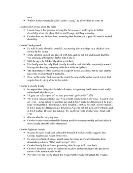 Of Mice and Men chapter 4 lecture notes