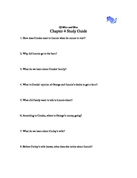 Of Mice and Men chapter 4 study guide
