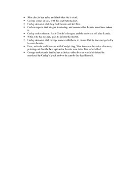 Of Mice and Men chapter 5 lecture notes