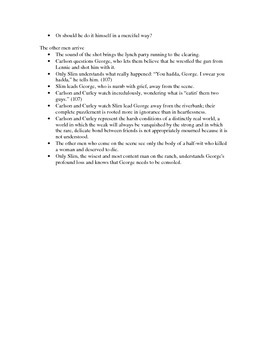Of Mice and Men chapter 6 lecture notes