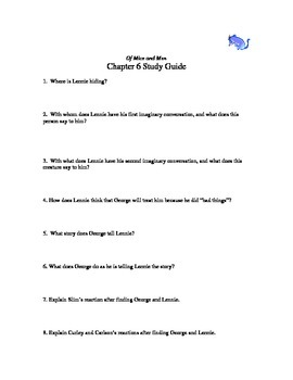 Of Mice and Men chapter 6 study guide