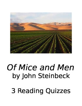 Of Mice and Men reading quizzes