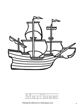 Of Plymouth Plantation Coloring Book-Level A