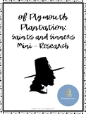 Of Plymouth Plantation Mini-Research