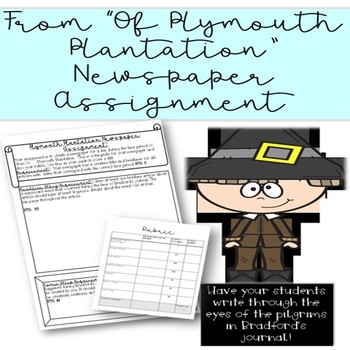 Of Plymouth Plantation Newspaper Assignment By The Cordial Classroom