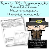 Of Plymouth Plantation Newspaper Assignment