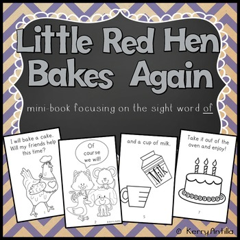 Little Red Hen Bakes Again: of mini-book