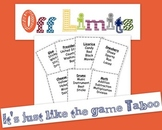 Off Limits Game (it's just like Taboo) FREE PACK