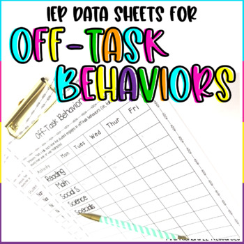 Off-Task Behavior Charts and Logs