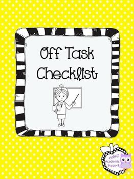 Off Task Checklist