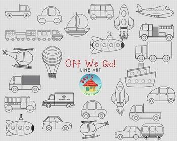 Transportation Clipart Bundle [Off We Go!]