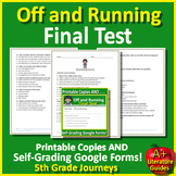 Off and Running TEST: 5th Grade Journeys Lesson 3 HMH SELF-GRADING GOOGLE FORMS!