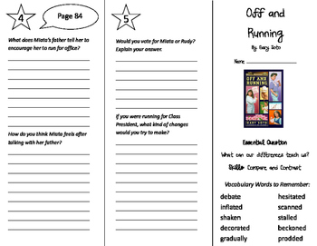 Off and Running Trifold - Journeys 5th Grade Unit 1 Week 3 (2011)