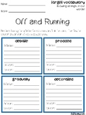 Off and Running Vocabulary Grids