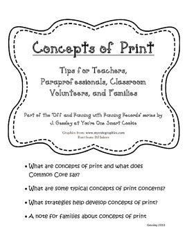 Off and Running With Running Records: Reading Strategies for Concepts of Print