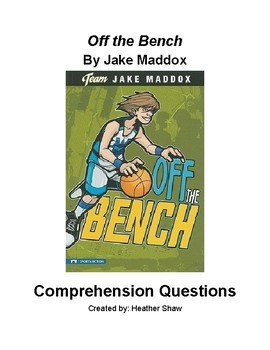 Off the Bench by Jake Maddox