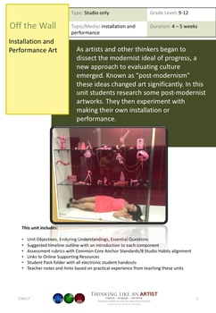 Off the Wall - Installation and Performance Art, Studio only unit