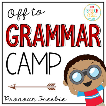 We're Off To Camp Pronoun Freebie
