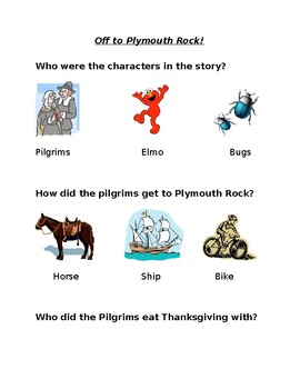 Off to Plymouth Rock Comprehension Questions