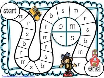 Off to School We Go! Alphabet Game