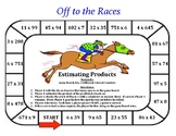 Off to the Races - A 2-Player Game to Practice Estimating Products