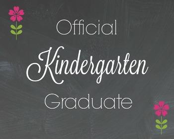 Officail Kindergarten Graduate with a  Flower