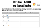 Office 2013 Basics Unit - Icon Name and Function