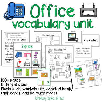 Office Computer Room Vocab Unit For Special Education By Breezy