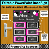 National School Counseling Week, Pink & Black Counselor Door Sign EDITABLE