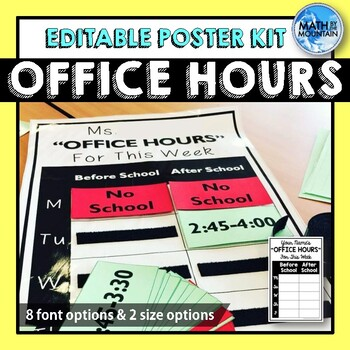 Office Hours Poster (Editable)