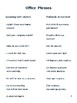 Office Phrases in English and Italian
