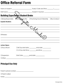 Office Referral Form