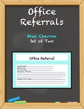 Office Referral Forms - Blue Chevron
