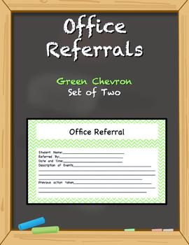 Office Referral Forms - Green Chevron
