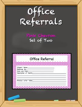 Office Referral Forms - Pink Chevron