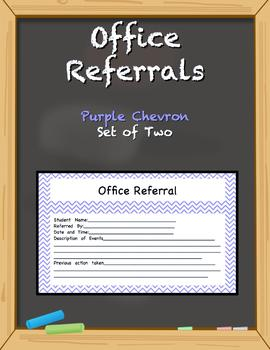 Office Referral Forms - Purple Chevron