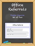 Office Referral Forms - Purple Chevron