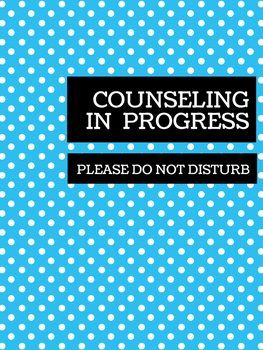 Office Signs - School Counseling Bundle - Blue Lolli