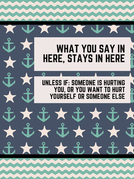 Office Signs - School Counseling Bundle - Nautical Blue