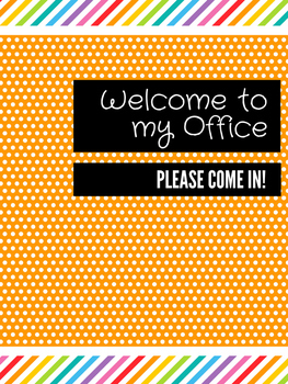 Office Signs - Counseling Bundle - Orange Rainbow