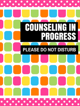 Office Signs - School Counseling Bundle - Pink Lolli 2