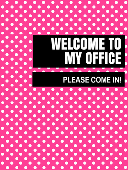 Office Signs - School Counseling Bundle - Pink Lolli