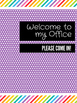 Office Signs - School Counseling Bundle - Purple Rainbow