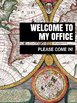 Office Signs - School Counseling Bundle - Vintage Map